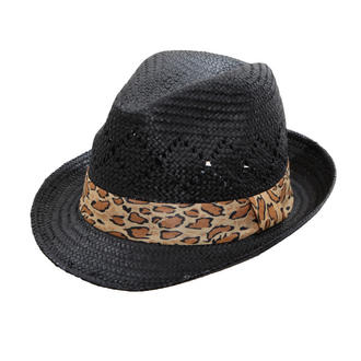 View Item Black Leopard Band Trilby