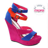 Suedette Ankle Strap wedge