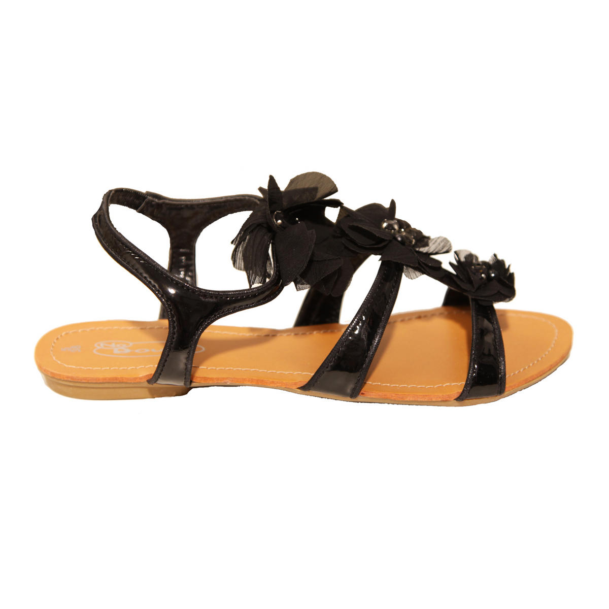 Black Flower Embellished Sandal Preview
