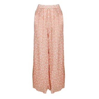 View Item Rose Print Palazzo Trousers