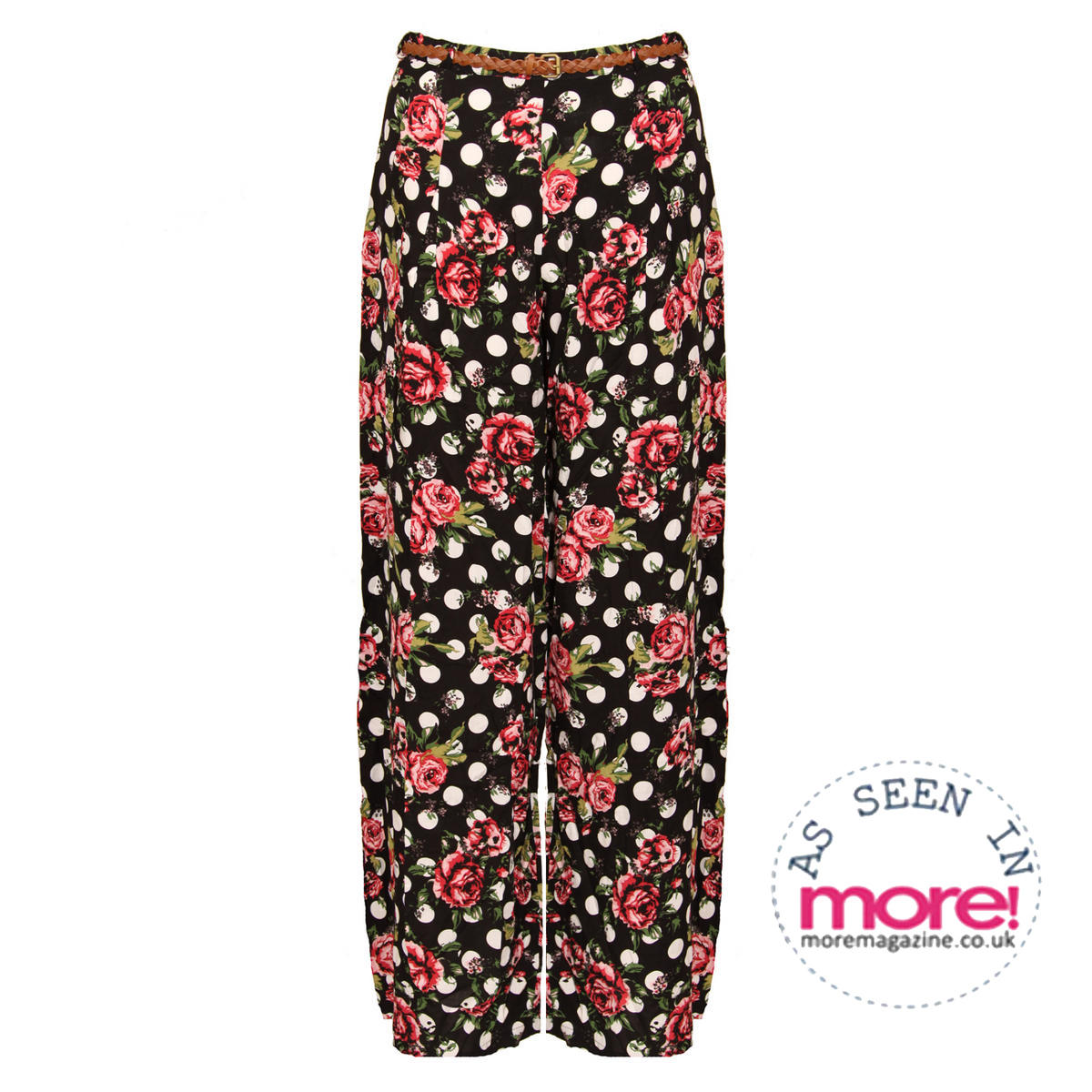 Polka Dot Floral Palazzo Trousers Preview