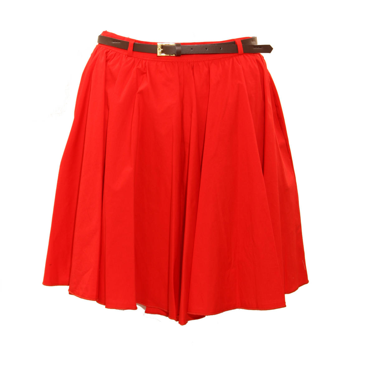 Item Details - Red Belted Skater Skirt