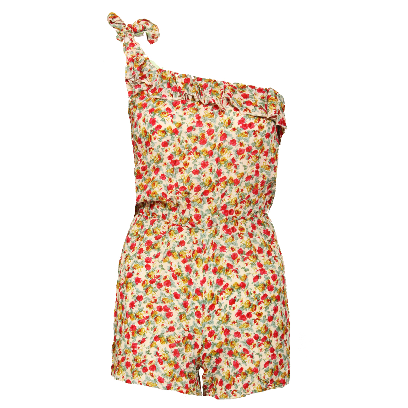 Floral One Shoulder Ruffle Playsuit Preview