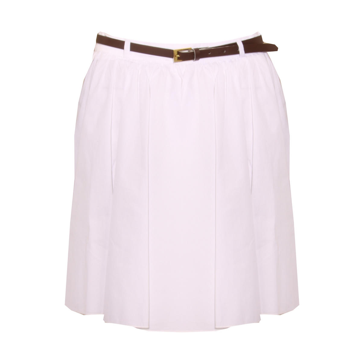 White Belted Skater Skirt Preview