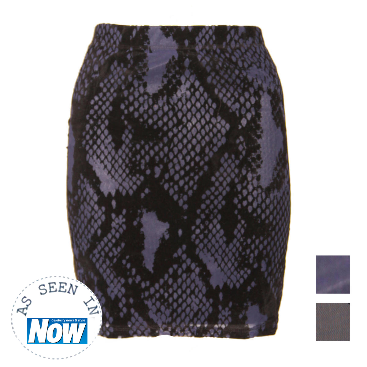 Snake Skin Mesh Bodycon Skirt Preview