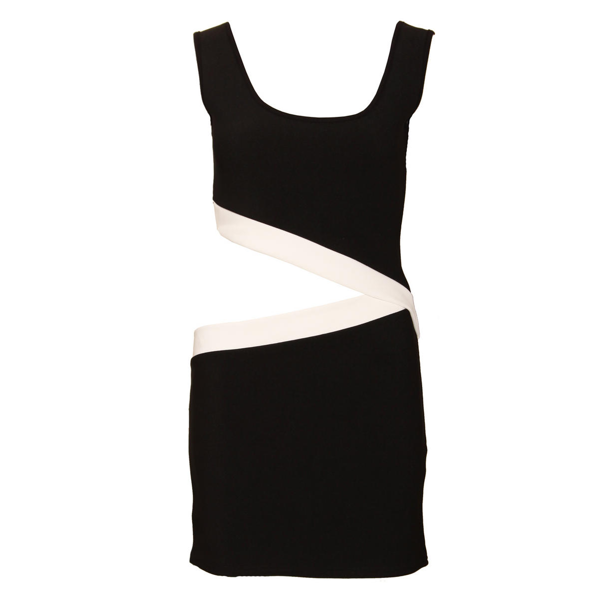 Monochrome Cut Out Dress Preview