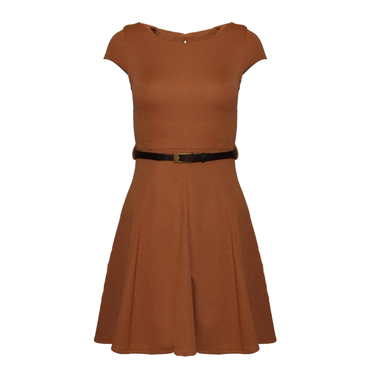 Rust Belted Skater Dress Preview