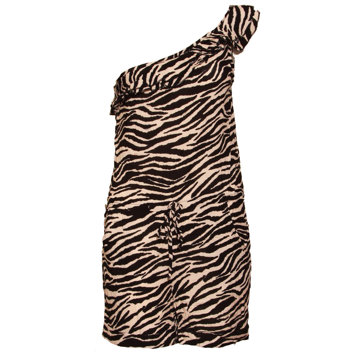 Animal Print Ruffle Playsuit Preview