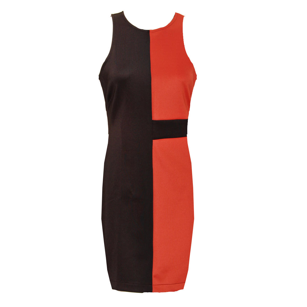 High Neck Colour Block Dress Preview