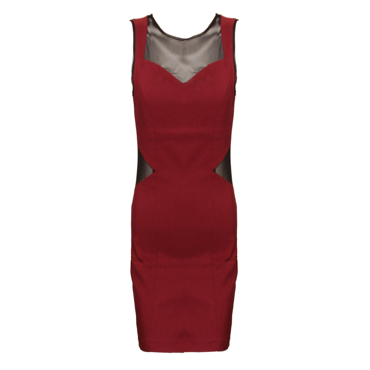 SIZE 12/14 ONLY Red Cut Out Mesh Dress Preview