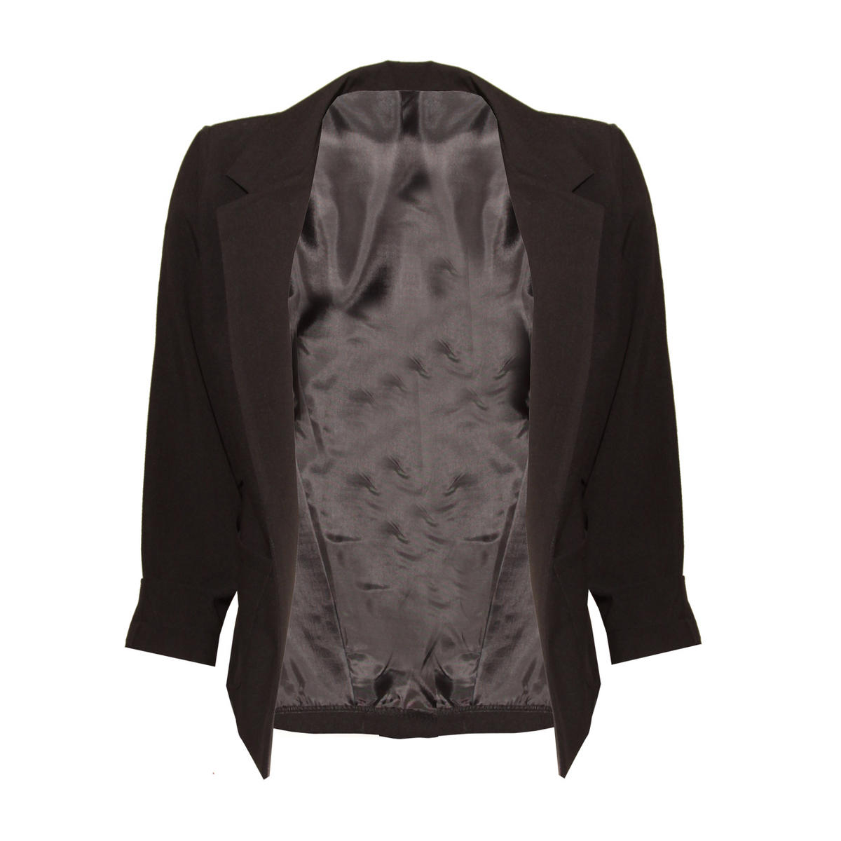 Black Lightweight Cropped Blazer Preview