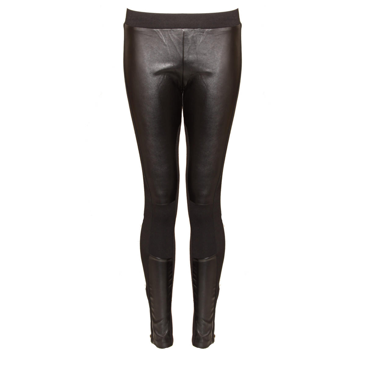 Leatherette Panel Legging Preview