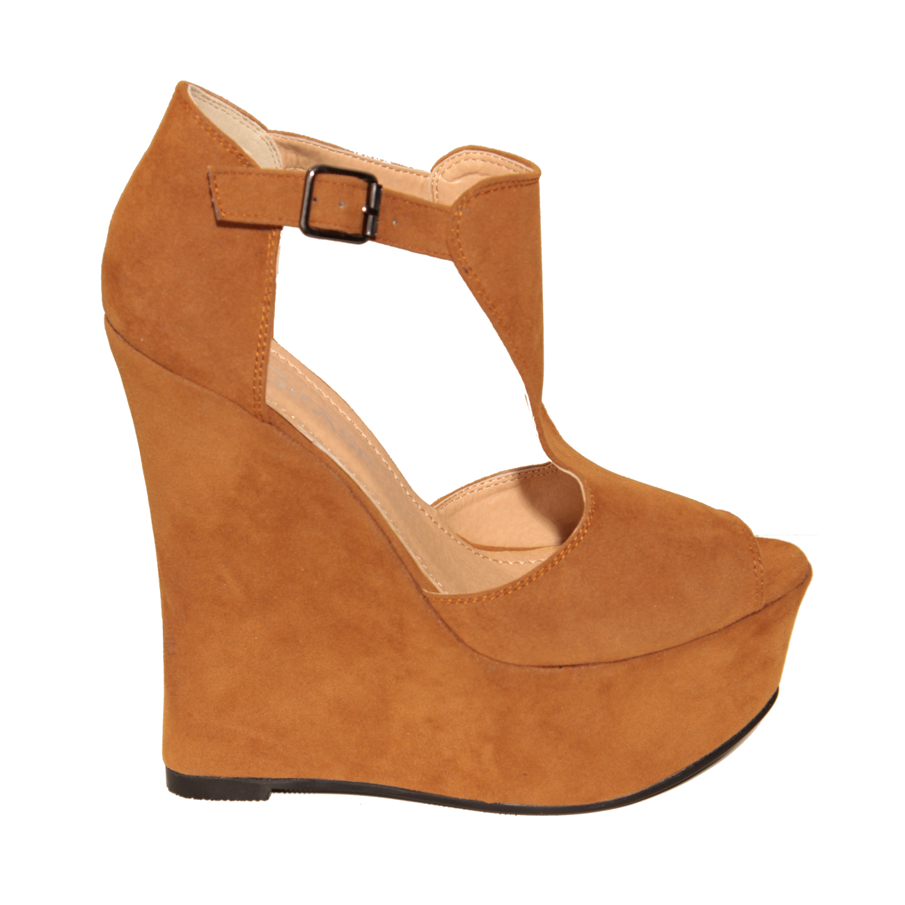 Tan Suedette Peeptoe Wedge Preview