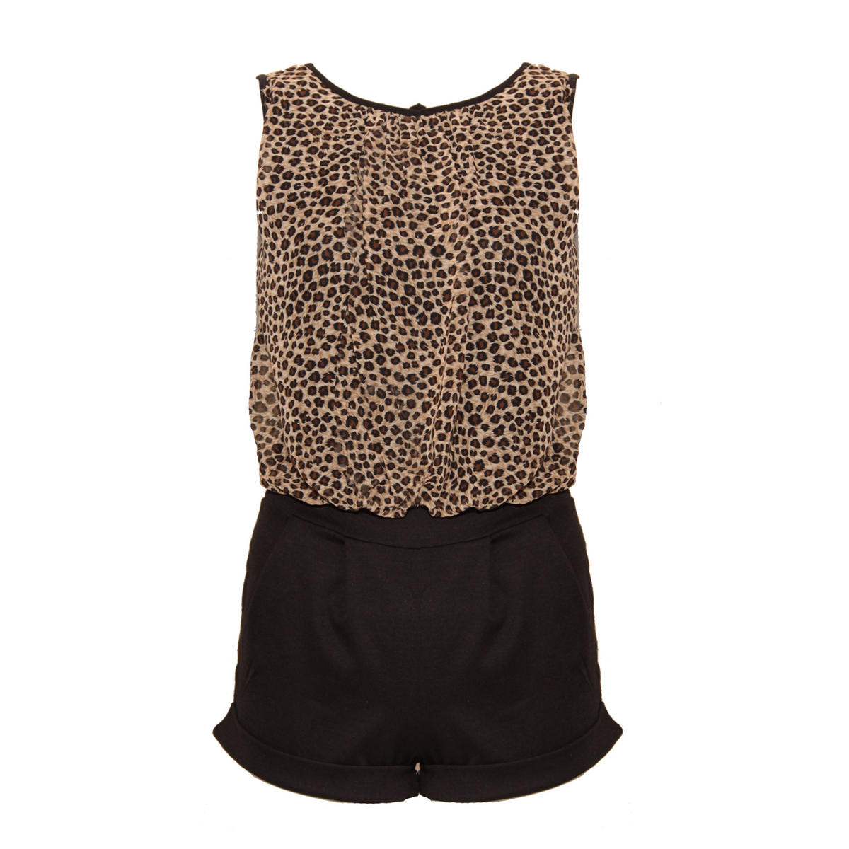 Leopard Print Overlay Playsuit Preview
