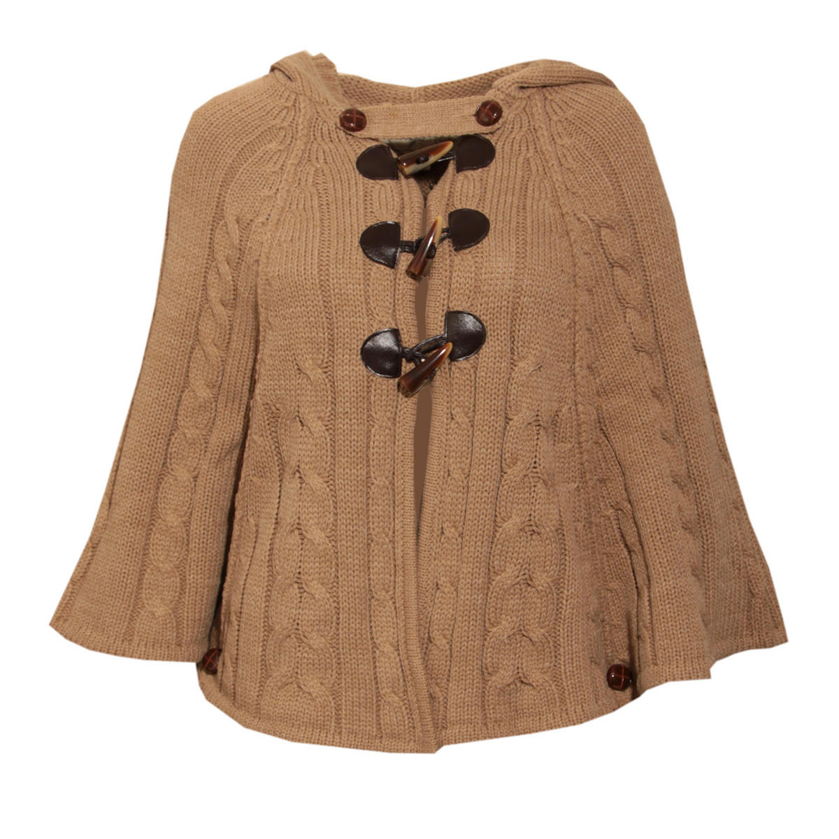 Beige Toggle Knit Cape Preview