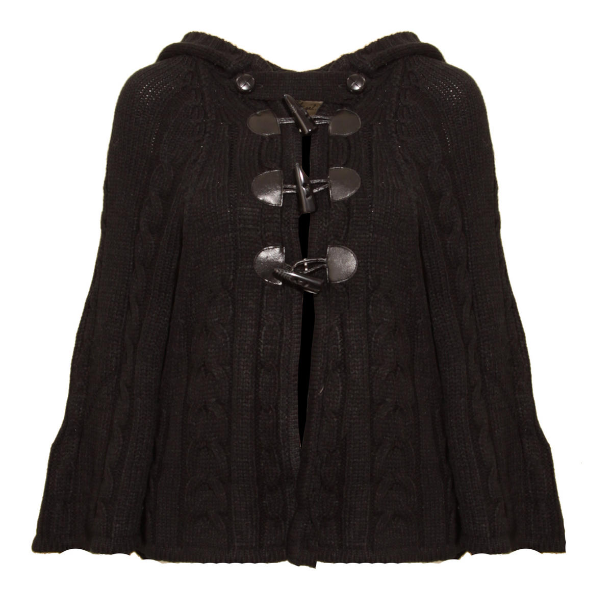 Black Toggle Knit Cape Preview