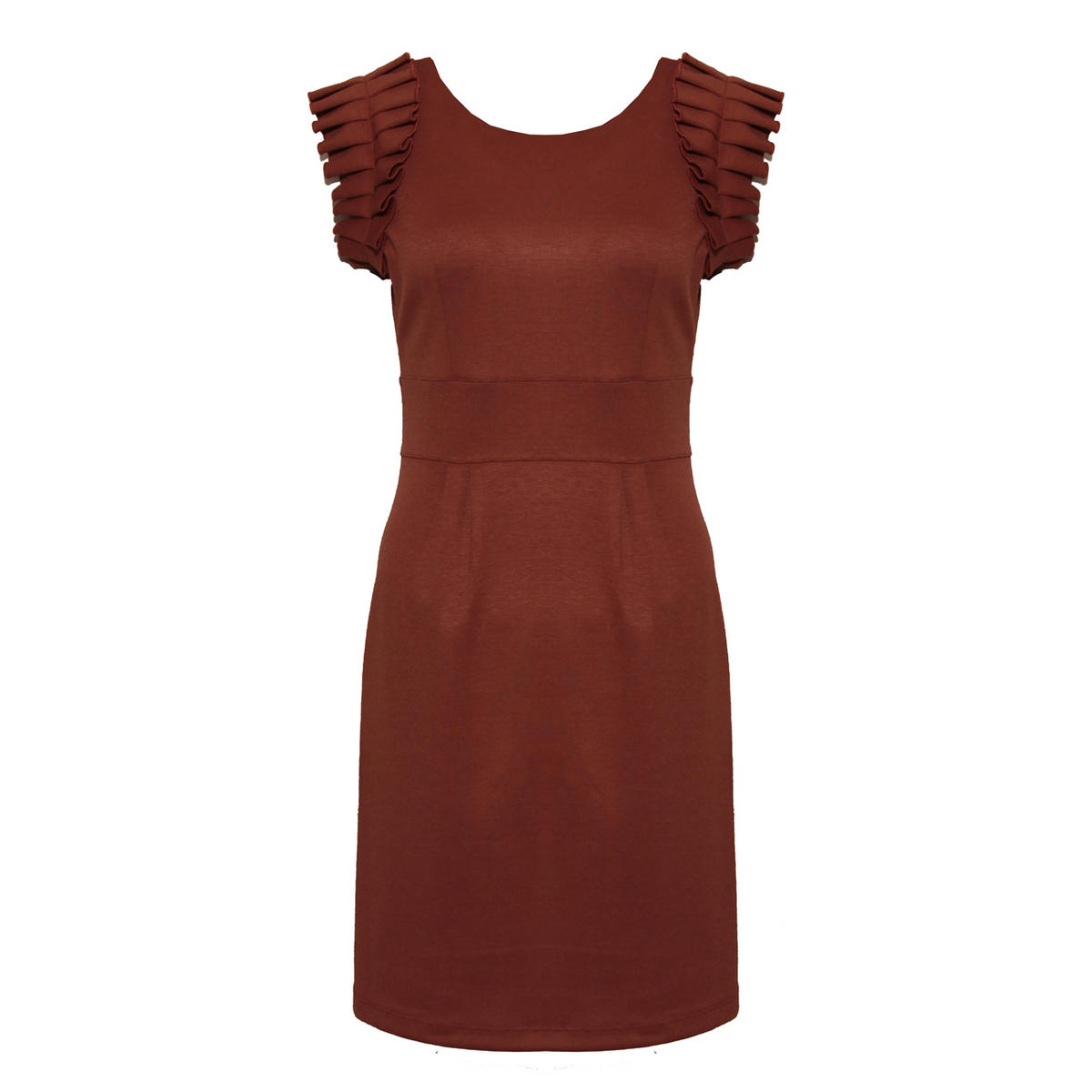Rust Ruffle Tailored Dress Preview