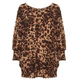 Brown Leopard Print Pocket Jumper