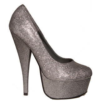 View Item SIZE 7 ONLY Silver Glitter Platform Shoe