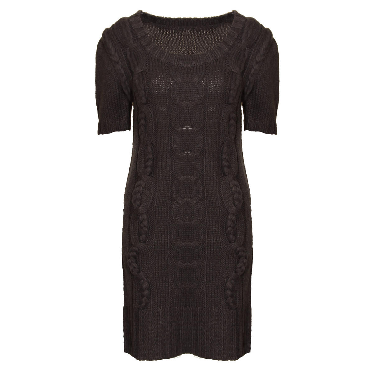 Knitted Jumper Dress In Grey Preview