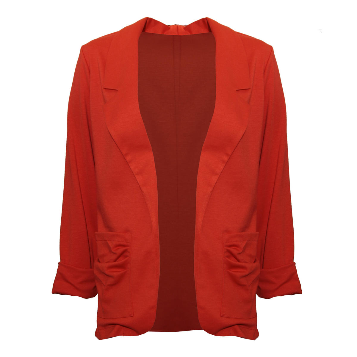 Orange Lightweight Ruffle Pocket Blazer Preview