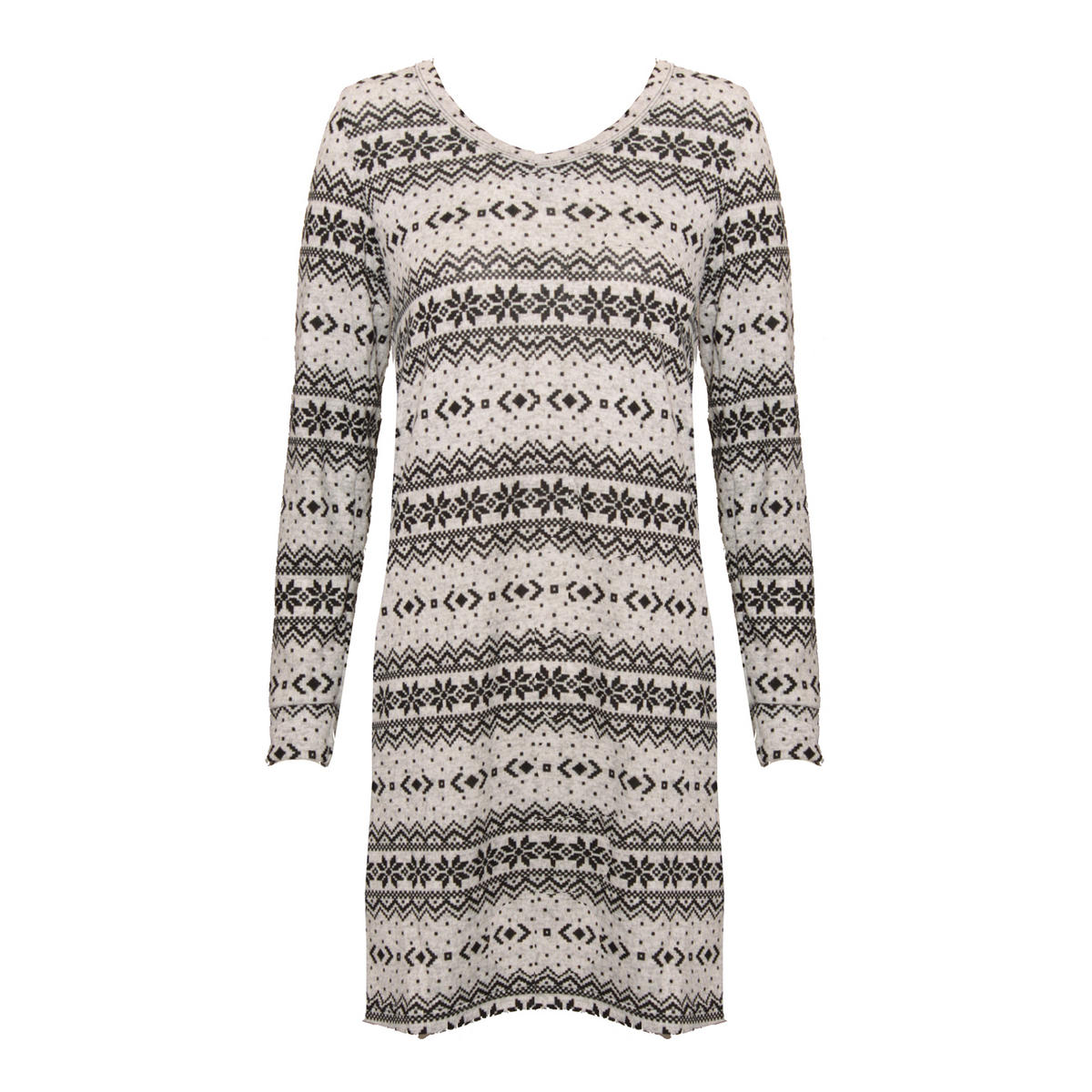 Alpine Print Knitted Jumper Dress  Preview