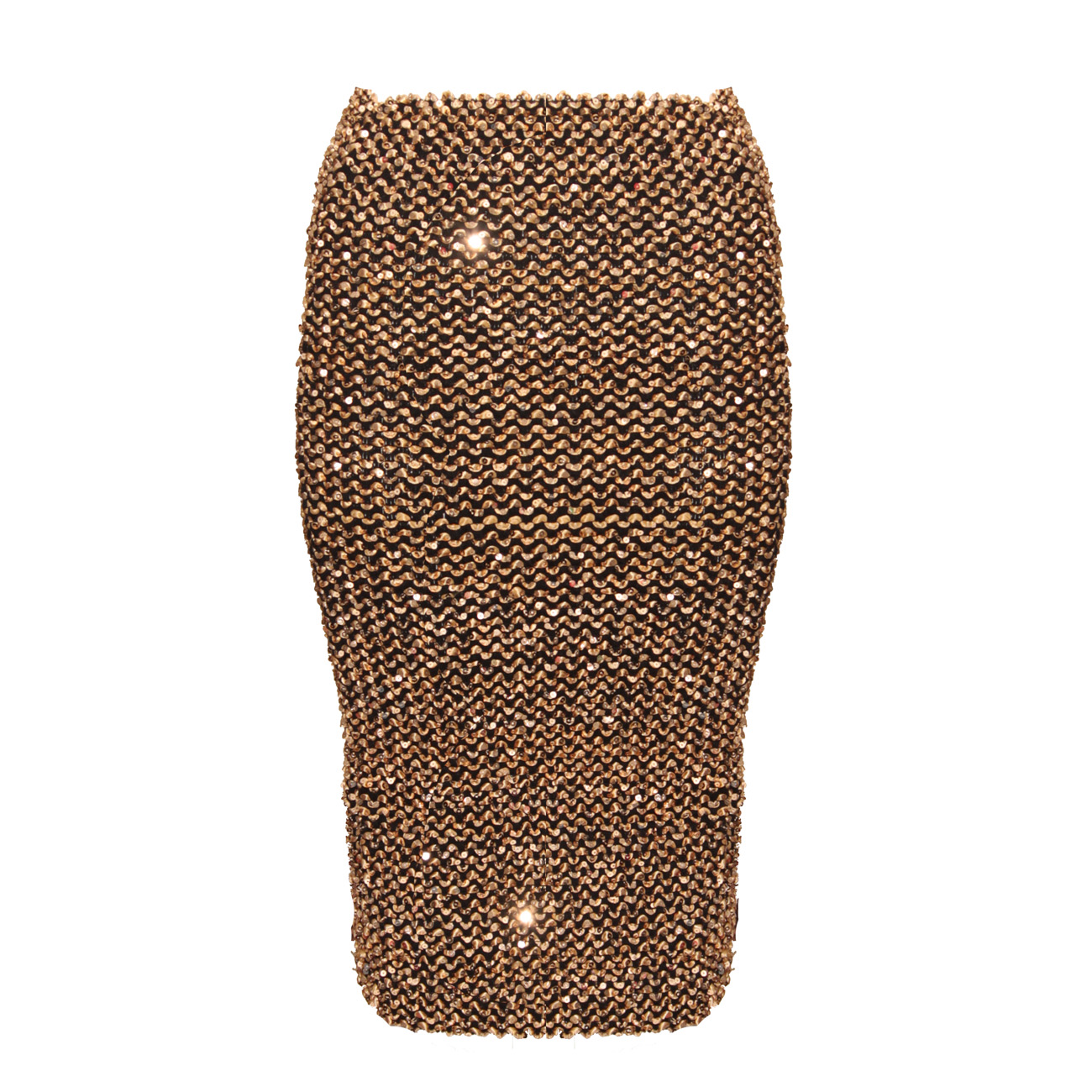 Gold sequin skirt hm