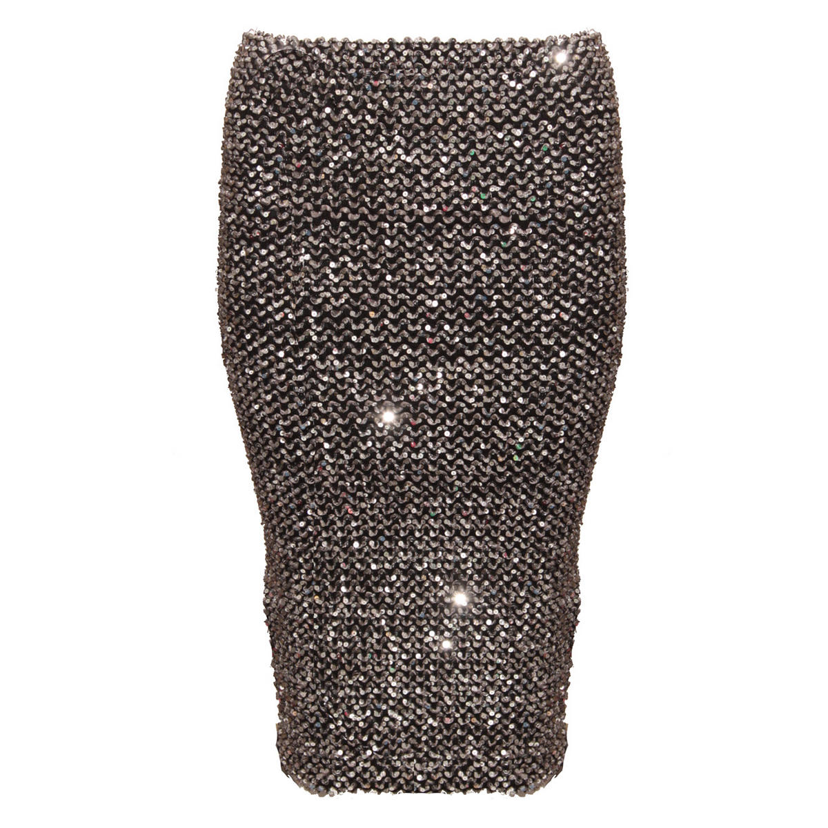 Silver Sequin Midi Skirt Preview
