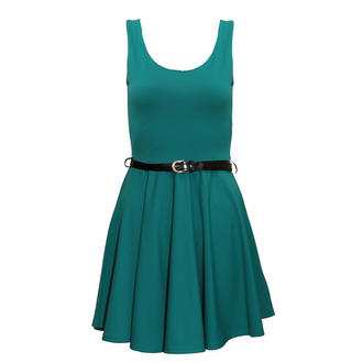 View Item Teal Skater Dress