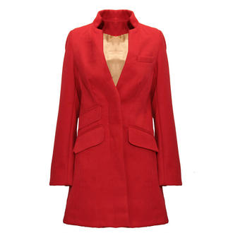 View Item Red Lined Pocket Coat