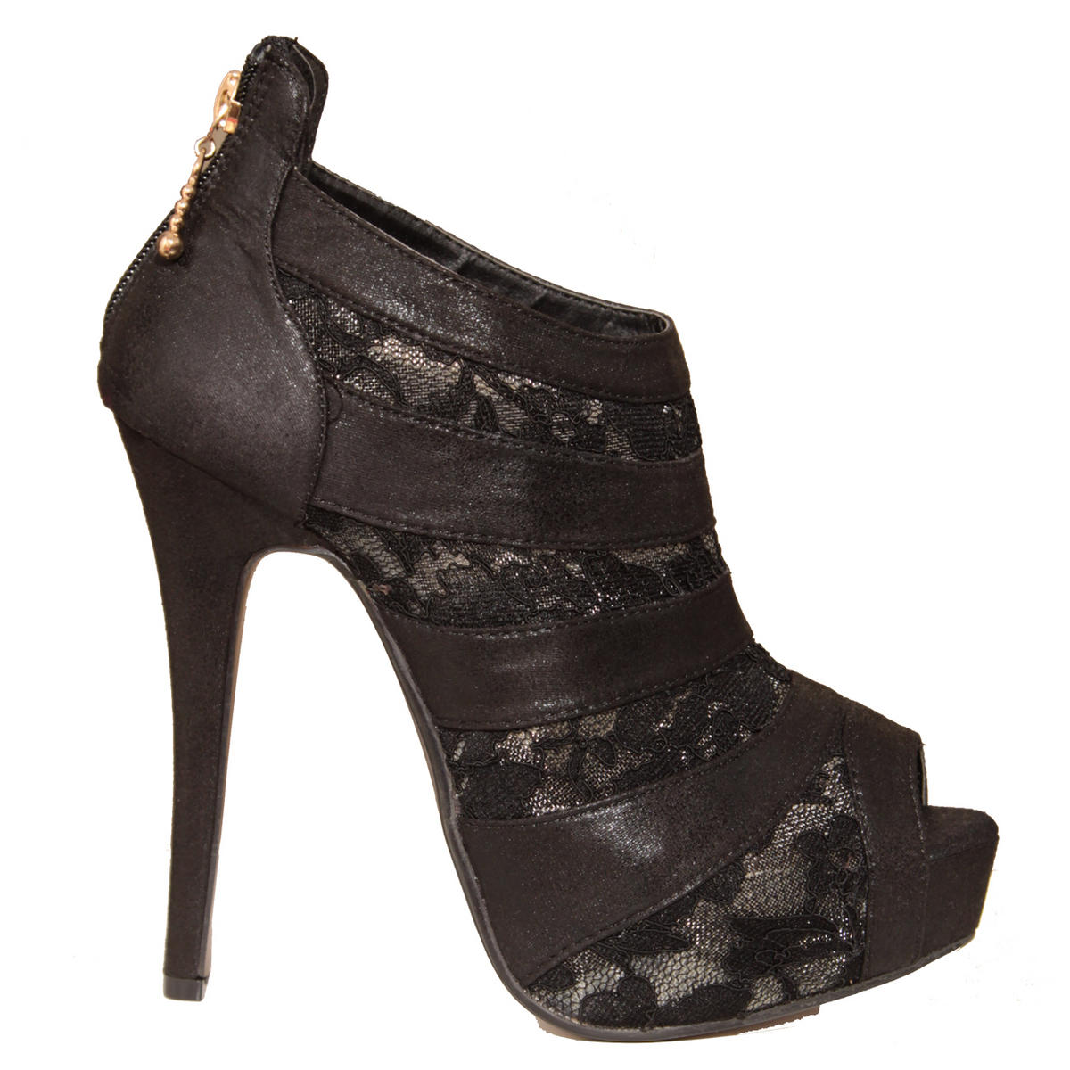 Black Lace Shoe Boot Preview