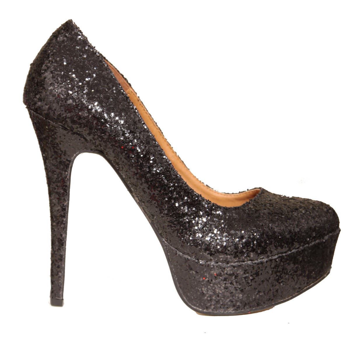 Black Glitter Platform Shoe Preview