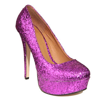 View Item Pink Glitter Platform Shoe