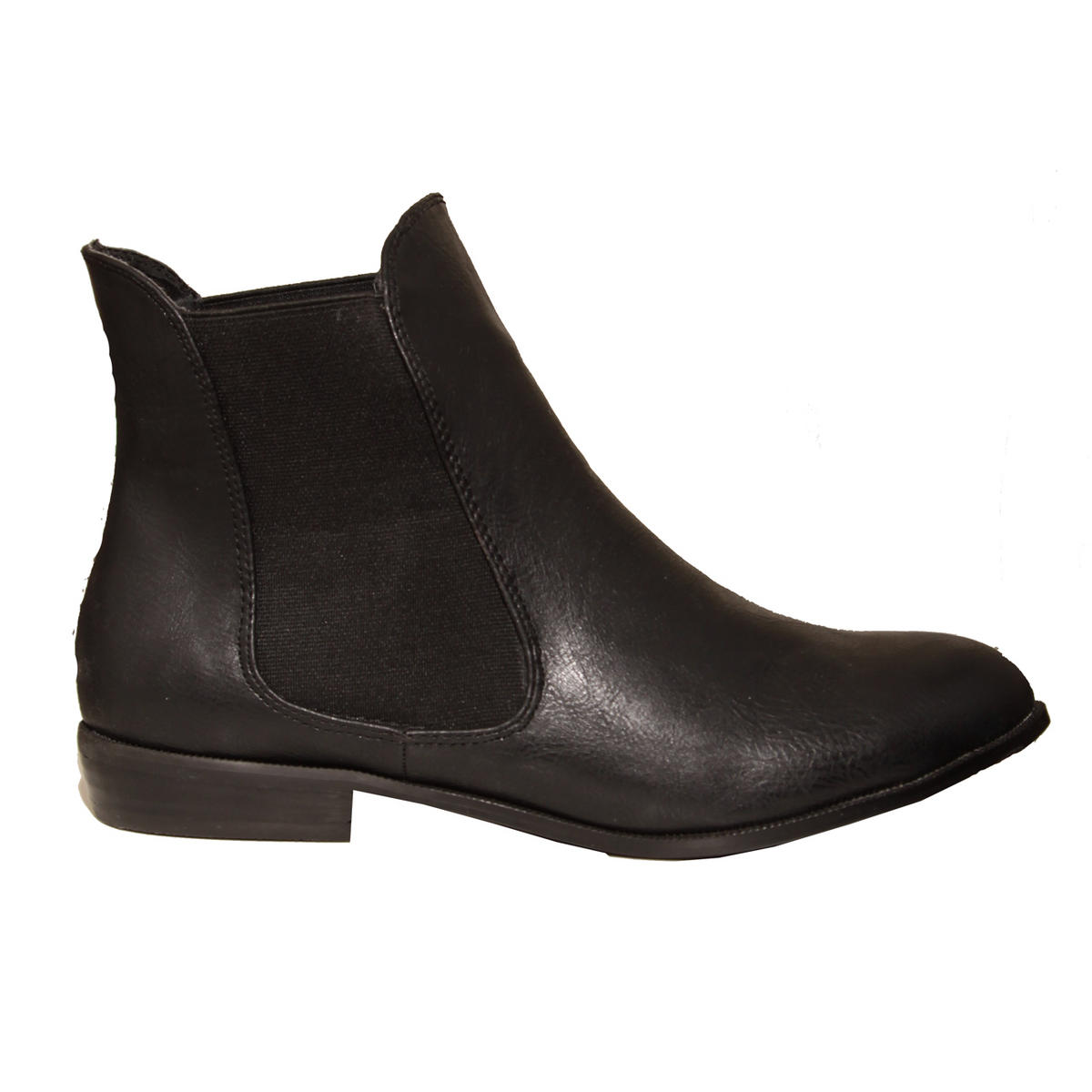 Black Flat Chelsea Boot  Preview