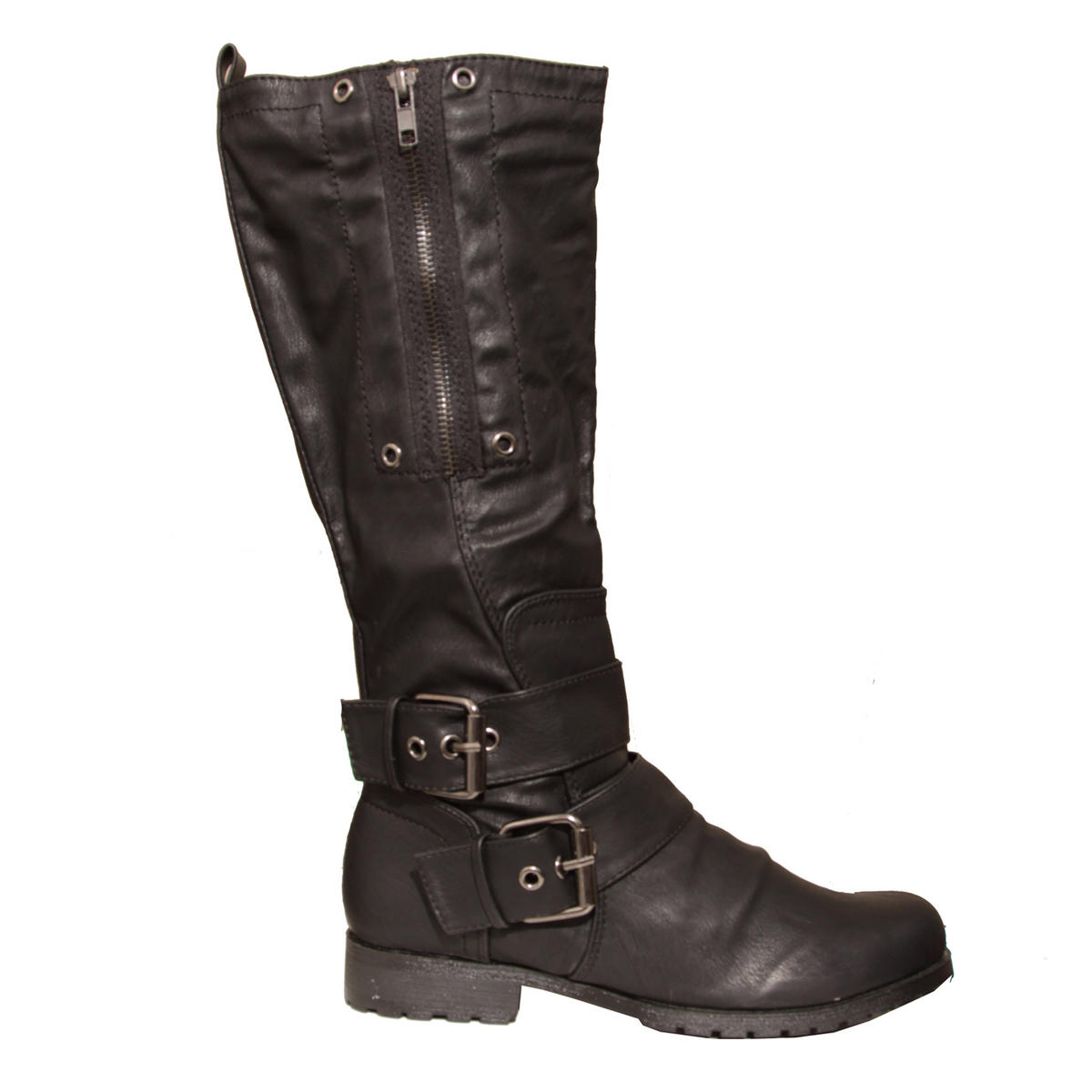 Black Buckle Biker Boot Preview