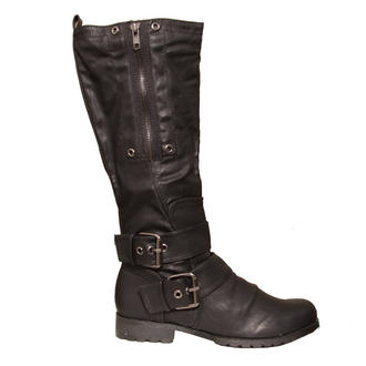 View Item Black Buckle Biker Boot