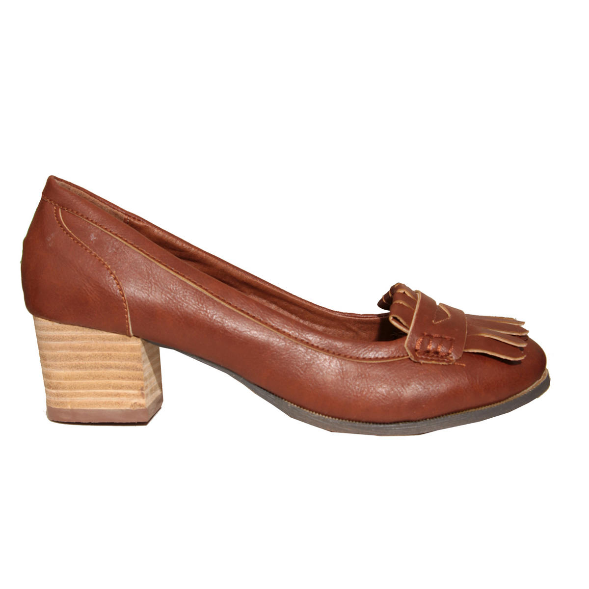 Tan Heeled Loafer Shoe Preview