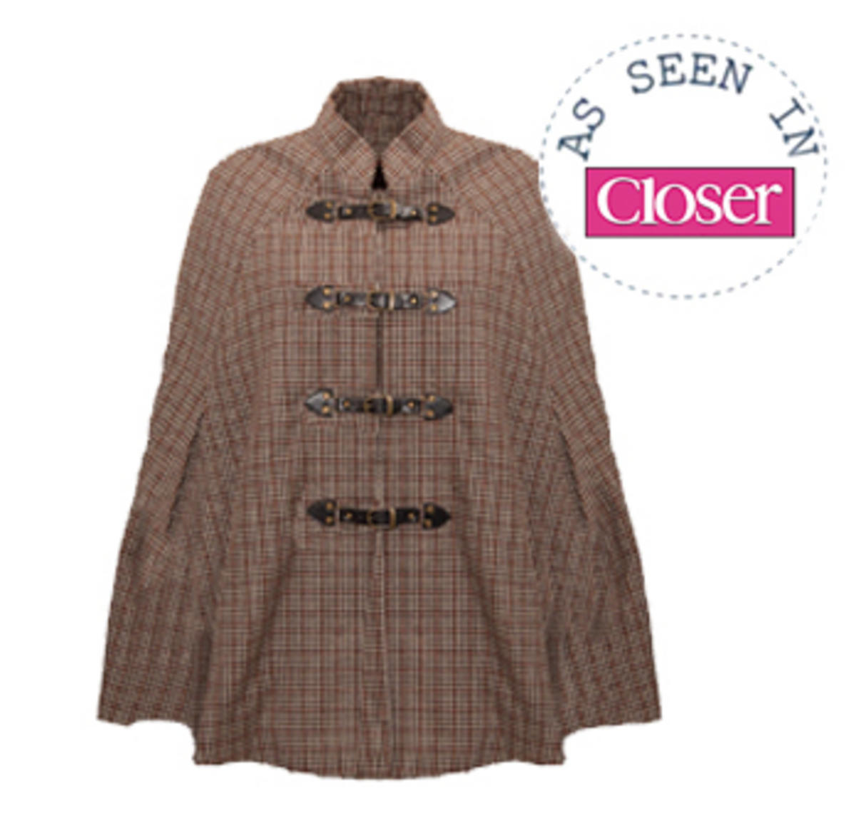 SIZE 12 ONLY Checked Buckle Heritage Cape Preview