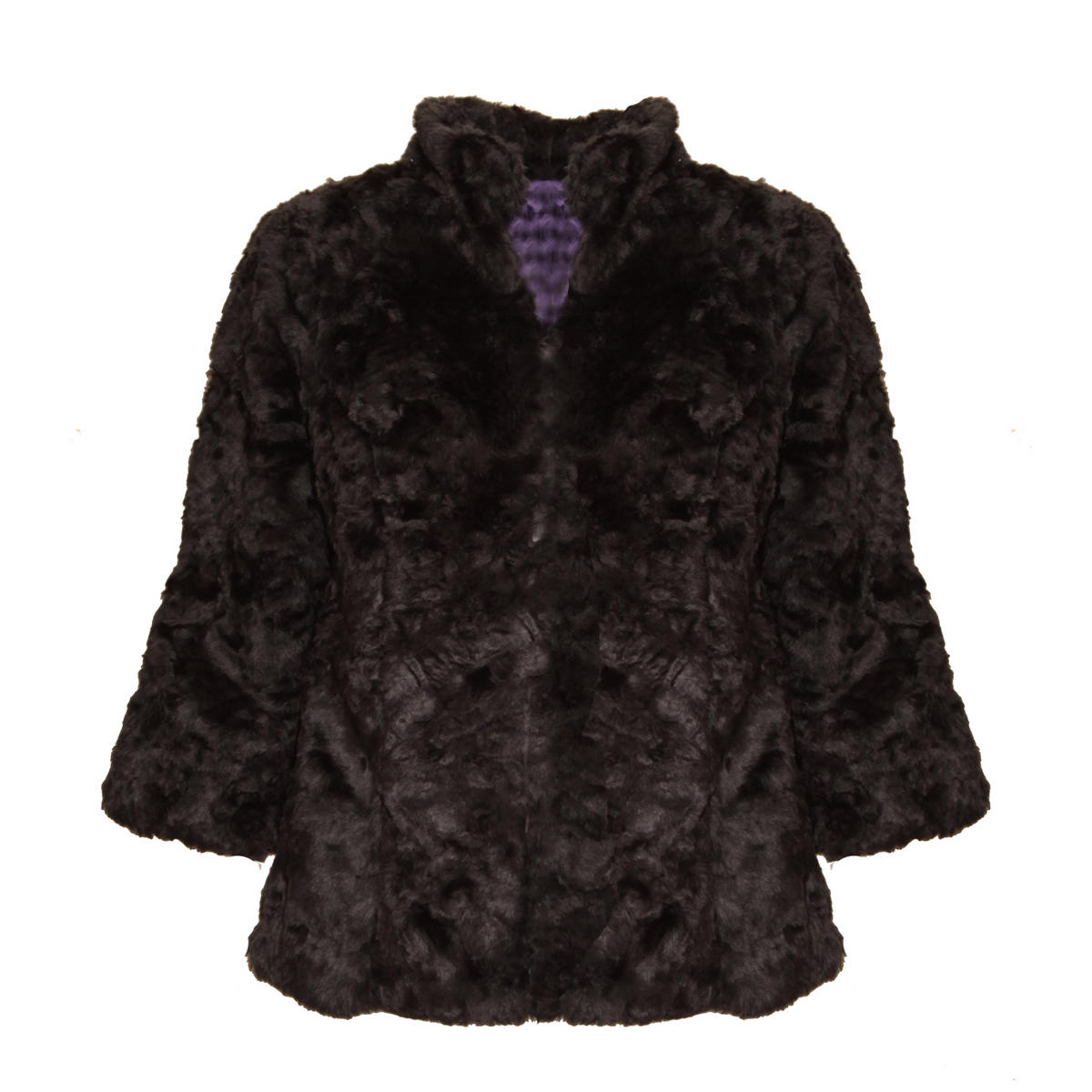 SIZE 12 ONLY Black Faux Fur Jacket Preview