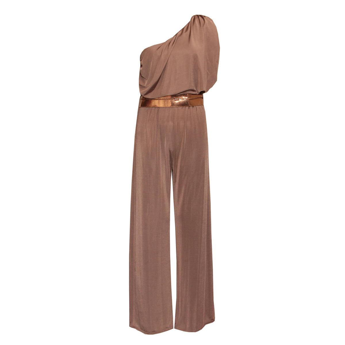 Assymetrical Metallic Belted Jumpsuit Preview