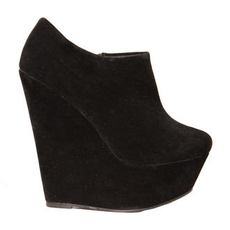 View Item Black Wedge Ankle Boot