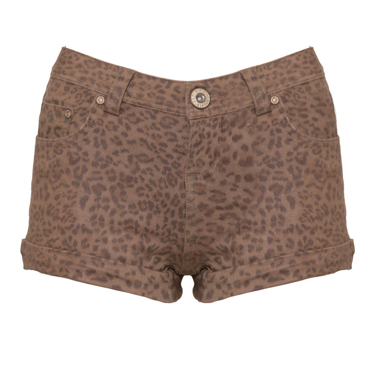 Leopard Print Denim Short Preview