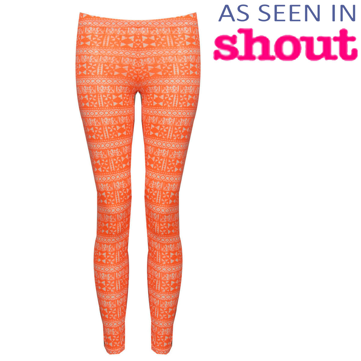 Orange Tribal Print Legging Preview