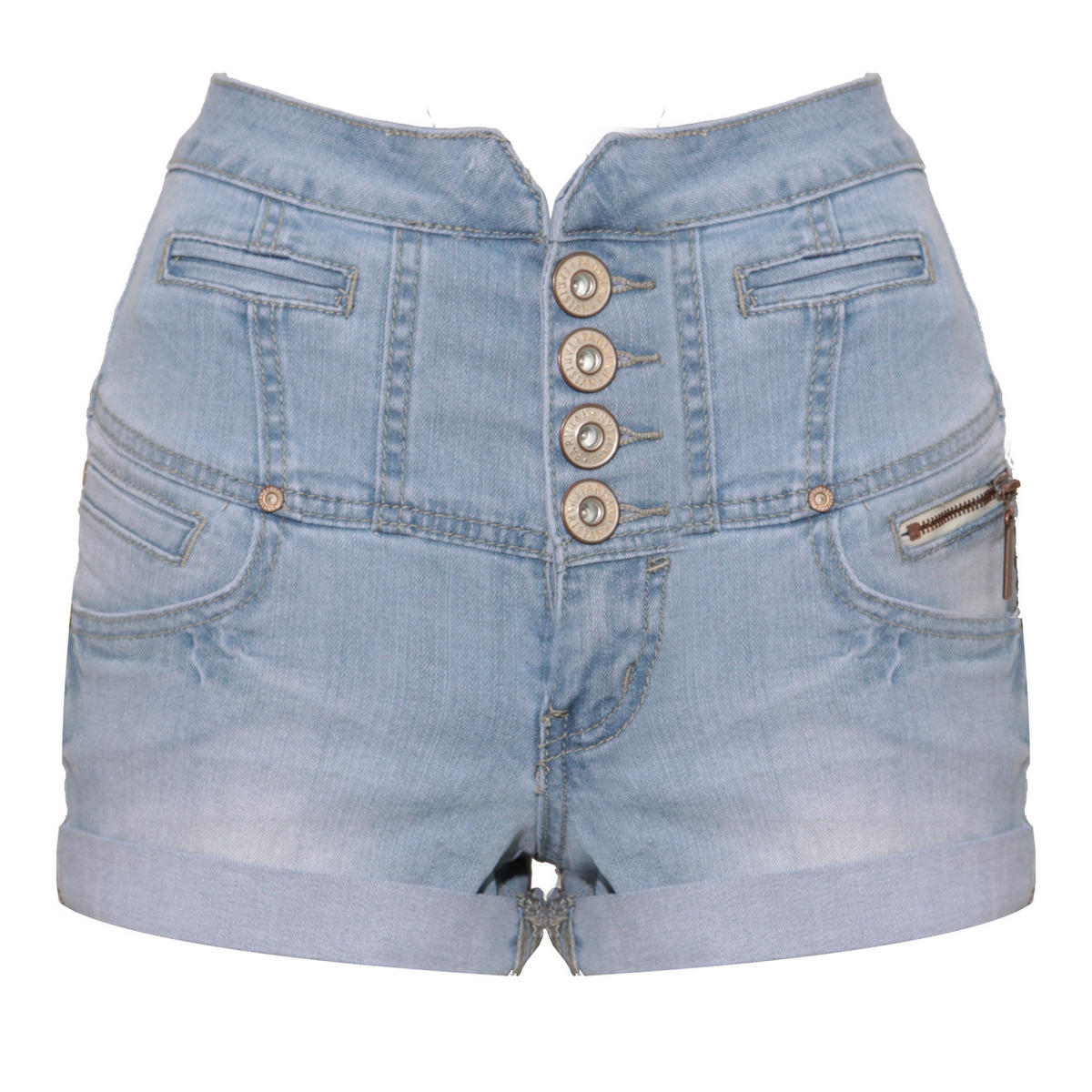 Light Wash Denim High Waisted Short Preview