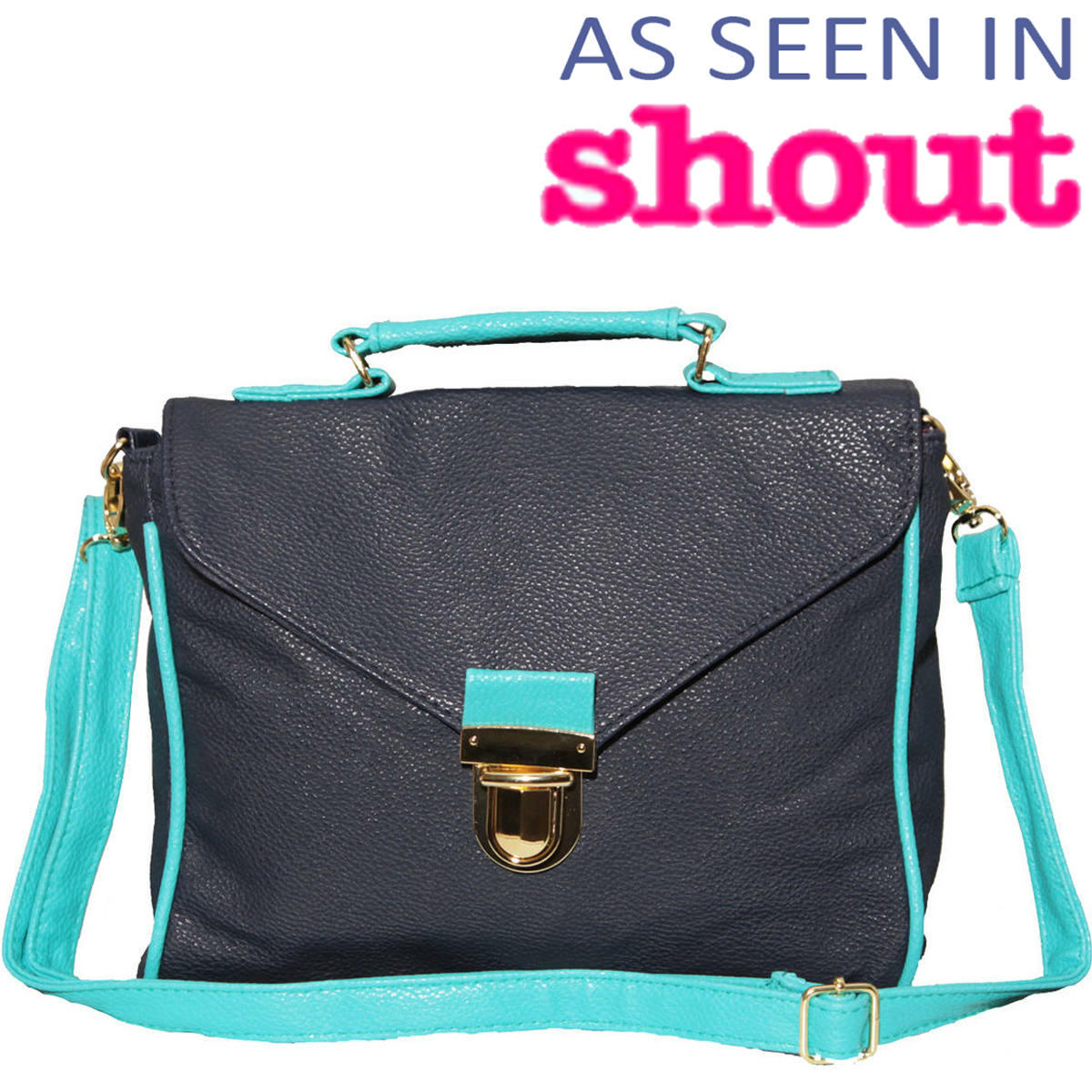 Blue Contrast Satchel Bag Preview