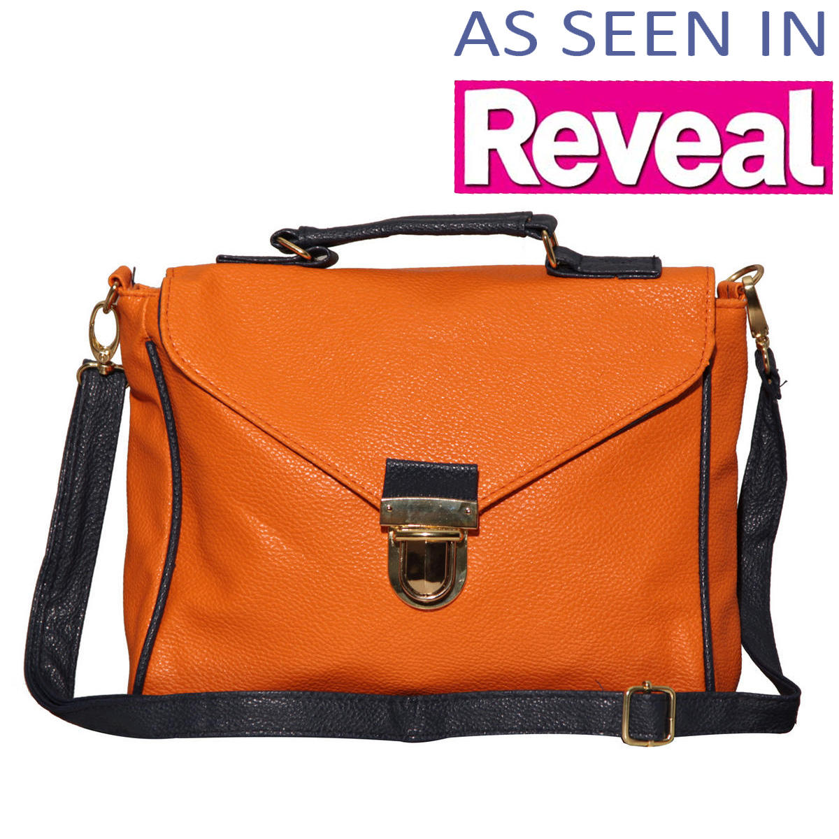 Orange Contrast Satchel Bag Preview