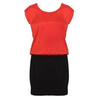 View Item SIZE 12 ONLY Orange Overlay Bodycon Dress