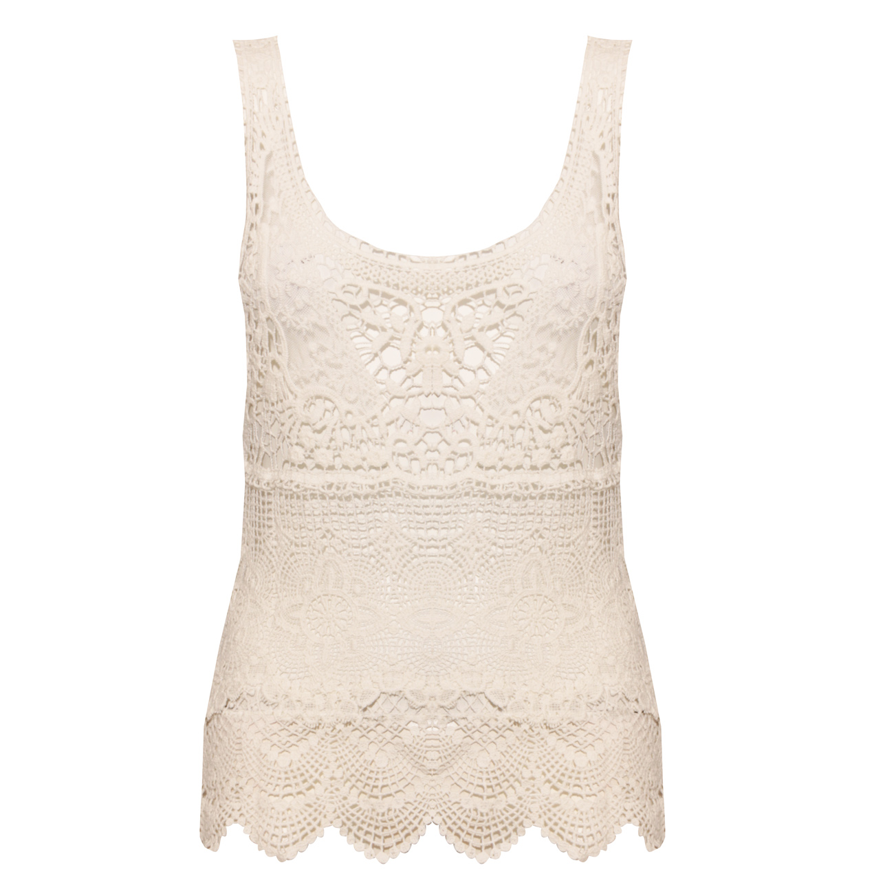 White Lace Crochet Top Preview