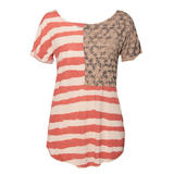 American Flag Slouchy Distressed T-Shirt