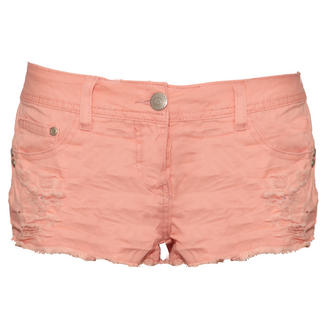 View Item Pink Distressed Cut Off Short